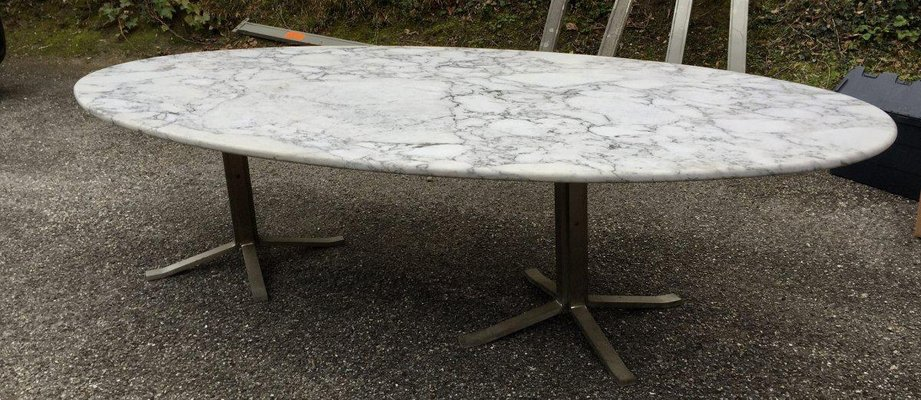 Vintage Marble Oval Table By Osvaldo Borsani For Sale At Pamono