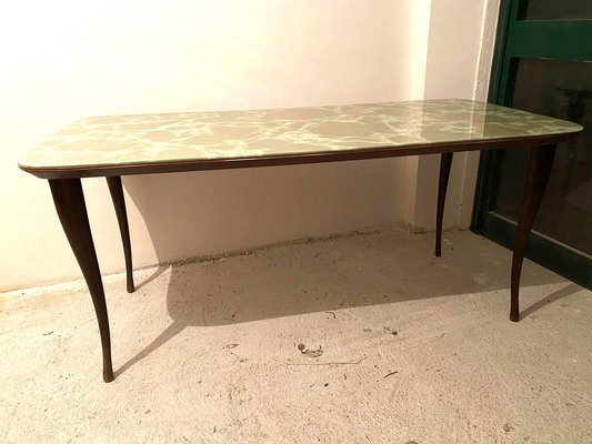 Dining Table With Marbled Glass Top 1960s For Sale At Pamono