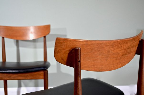 Afromosia And Aniline Leather Dining Chairs By Ib Kofod Larsen For G Plan 1960s Set Of 4 For Sale At Pamono