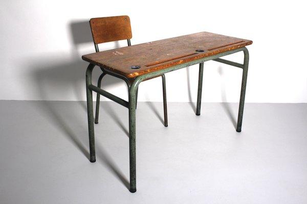 bureau et chaise vintage de style industriel 1940s set de 2 3 - Chaise Bureau Style Industriel