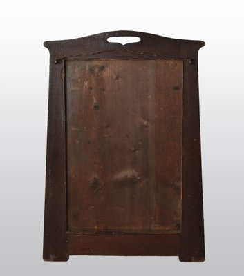 Small Antique Arts Crafts Walnut Tapering Wall Mirror 1900s For Sale At Pamono