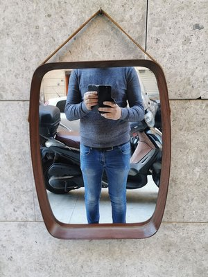 Mid Century Teak Wall Mirror From Pedersen Hansen For Sale At Pamono