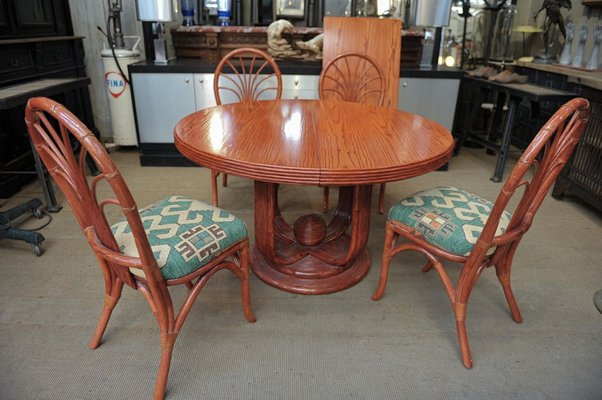 Elm Dining Table Chairs Set From, Round Table And Chairs Set