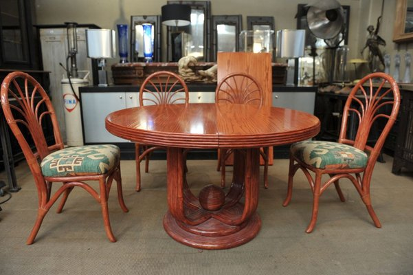 Elm Dining Table Chairs Set From, Round Dining Table Set For 5 Chairs