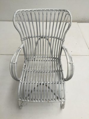 White Wicker Chair By Rohe Noordwolde 1960s