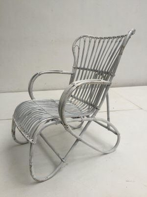 Incredible White Wicker Chair By Rohe Noordwolde 1960S Cjindustries Chair Design For Home Cjindustriesco