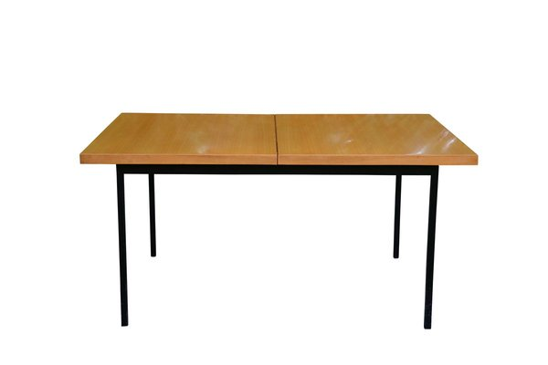 Mid Century Extendable Birch Veneer No 413 Dining Table By Fred Ruf For Knoll Inc Knoll International For Sale At Pamono