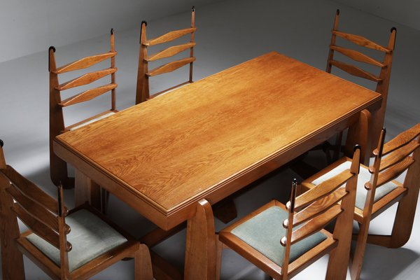 Expressionist Modern Oak Dining Room, Contemporary Oak Dining Room Sets