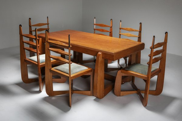 Expressionist Modern Oak Dining Room, Modern Oak Dining Room Chairs