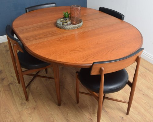 Teak Round Dining Table Chairs Set By V B Wilkins For G Plan 1960s Set Of 5 For Sale At Pamono