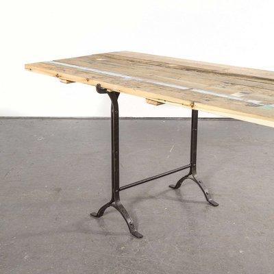 19th Century Large Rectangular Trestle Base Dining Table For Sale At Pamono