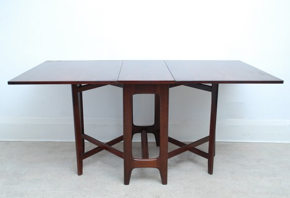 Mid Century Norwegian Rosewood Drop Leaf Console Dining Table By Bendt Winge For Kleppes 1970s Bei Pamono Kaufen