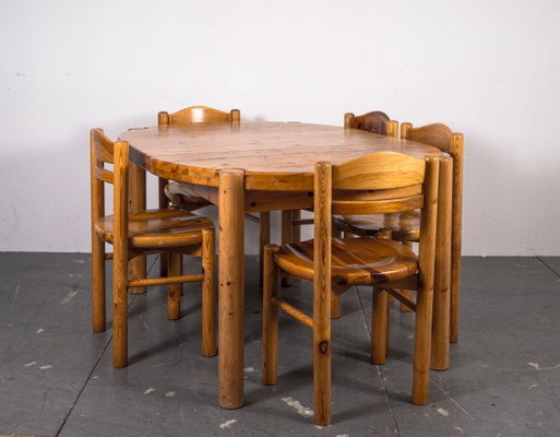 Dining Table Chairs Set In The Style Of Rainer Daumiller 1970s Set Of 6 For Sale At Pamono