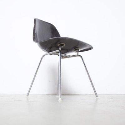 Black Fiberglass Dsx Stacking Side, Eames Side Chair Fiberglass