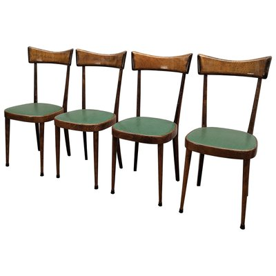 Mid Century Modern Italian Dining Chairs 1950s Set Of 4 For Sale At Pamono
