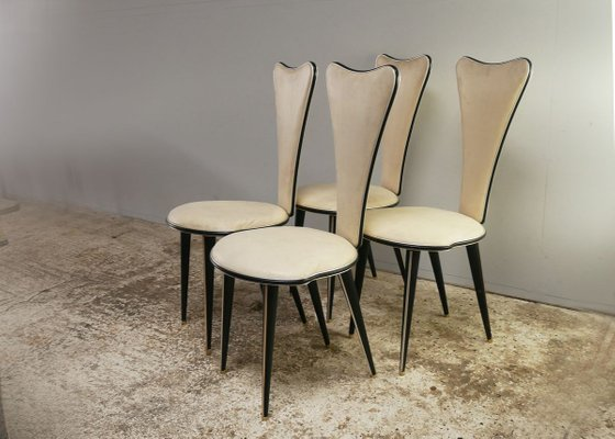 Mid Century Italian Dining Table Chairs Set By Umberto Mascagni 1950s Set Of 5 1 470