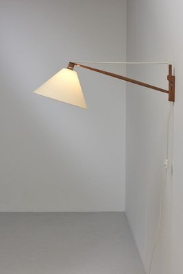 Swing Arm Wall Lamp In Teak For Sale At Pamono