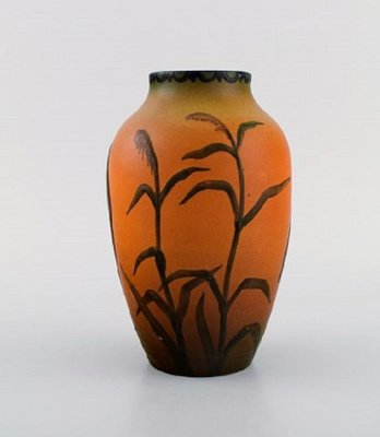 Ipsen S Vase With Marabou In Hand Painted Glazed Ceramics 1920 For Sale At Pamono