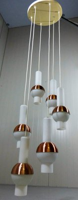 Large Lucifero Cascading Copper Lamp from Raak Amsterdam, 1960s for ...