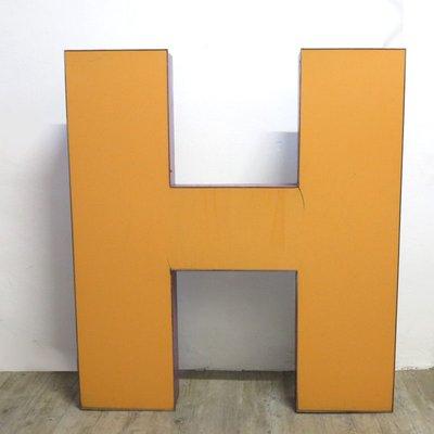76882c2dece Large Industrial Vintage Letter H