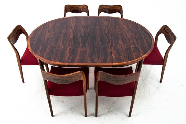 Danish Rosewood Dining Table Chairs Set By Niels Otto Moller 1960s Set Of 7 Bei Pamono Kaufen
