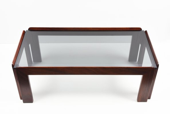 Smoked Glass Coffee Table By Tobia, Coffee Tables Glass And Wood