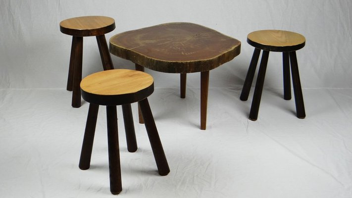 Stools Coffee Table 1950s Set Of 4 For Sale At Pamono