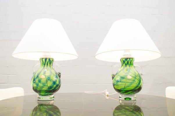 Lampade In Vetro Di Murano : Lampade da tavolo in vetro di murano di joska anni 60 set di 2 in