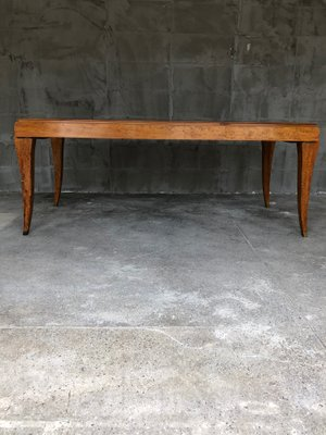 Vintage French Dining Table In Eucalyptus 2