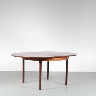 Mid Century Danish Round Extendable Dining Table By Niels Otto Moller For J L Mollers 1950s Bei Pamono Kaufen