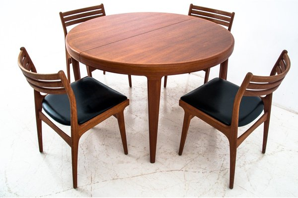 Danish Dining Table Chairs Set 1960s Set Of 5 For Sale At Pamono