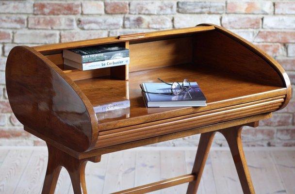 Mid Century Modern Desk With Roll Top, Modern Desk Furniture