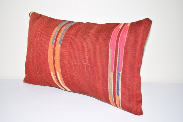 Antique Turkish Colorful Lumbar Pillow Cover For Sale At Pamono