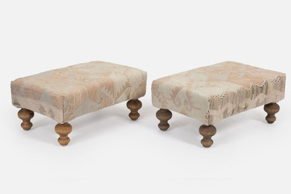Kilim Upholstered Footstool From Vintage Pillow Store Contemporary For Sale At Pamono