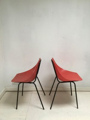 Mid Century Vintage Red Shell Dining Chairs By Pierre Guariche For Murop Set Of 2 For Sale At Pamono