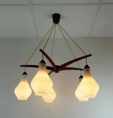 DANISH SCANDINAVIAN STYLE SMOKE GREY GLASS 60S 70/'S MID CENTURY LIGHT LAMP SHADE