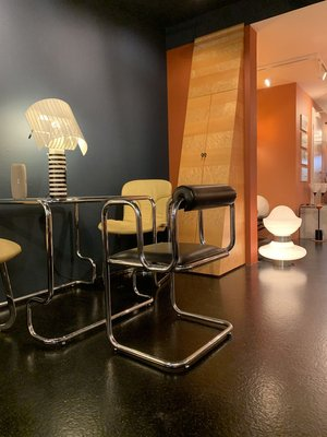 Italian Stainless Steel Dining Table Chairs Set 1960s Set Of 5 Bei Pamono Kaufen