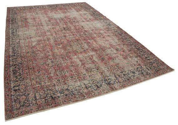 Large Vintage Red Area Rug 1950s For Sale At Pamono