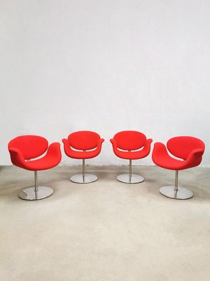 Vintage Little Tulip Office Or Dining Chairs By Pierre Paulin For Artifort Set Of 6 Bei Pamono Kaufen
