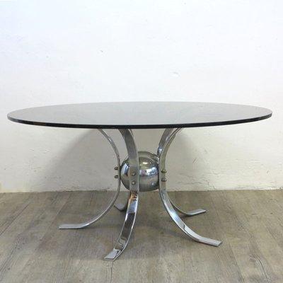 Vintage Chrome Smoked Glass Table 1960s For Sale At Pamono