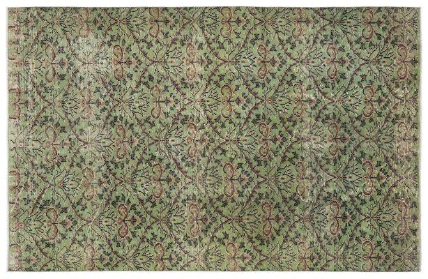 tapis turc vintage vert 1 - Tapis Turc