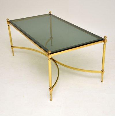 Vintage Italian Brass Glass Coffee Table 1960s Bei Pamono Kaufen