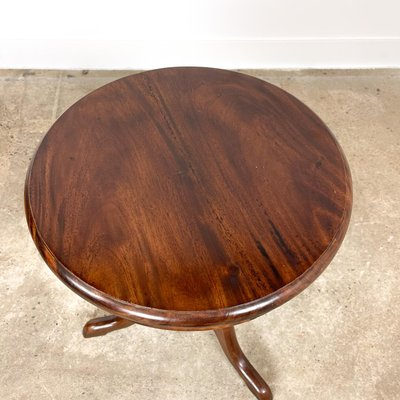 Small Round Antique Side Table Bei, Small Round Antique Side Table
