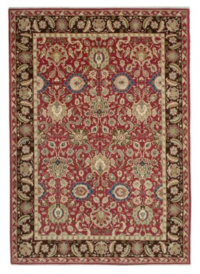 Red Oriental Hand Knotted Wool Large Oushak Carpet For Sale At Pamono