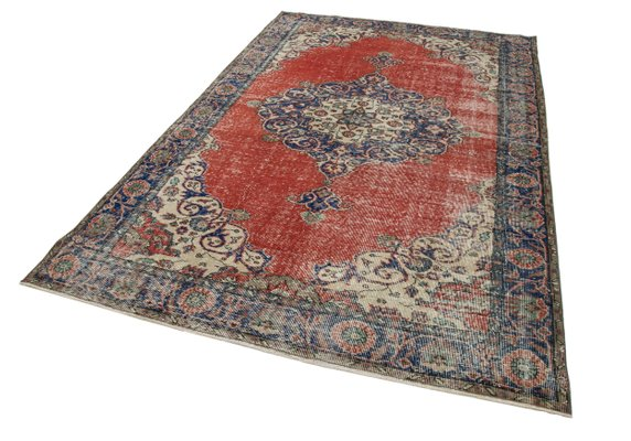 Beige Oriental Wool Hand Knotted Vintage Carpet For Sale At Pamono