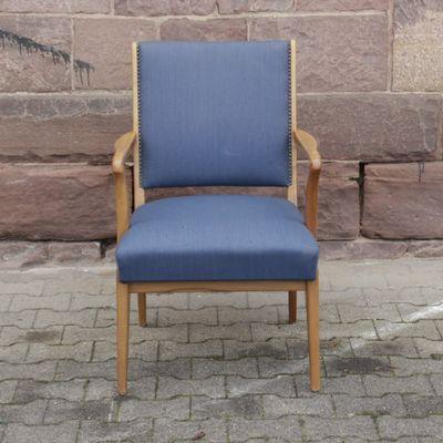 fauteuil scandinave vintage bleu 1 - Fauteuil Scandinave Vintage