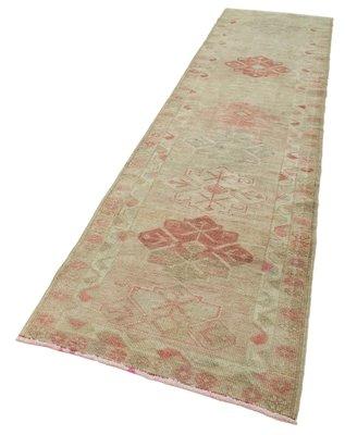 Vintage Oriental Handmade Wool Beige Runner Carpet For Sale At Pamono