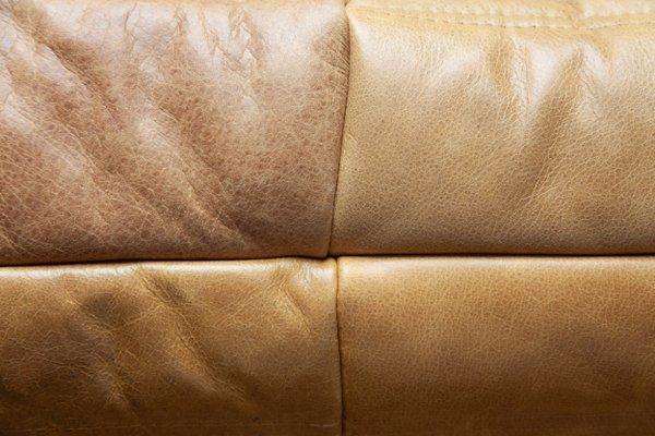 Camel Leather Togo 2 Seat 3 Sofa, Camel Leather Sofa