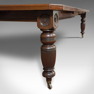 Antique Mahogany Extending Dining Table For Sale At Pamono