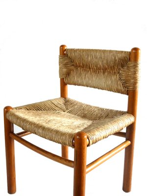 Dordogne Side Chairs By Charlotte Perriand For Robert Sentou 1960s Set Of 6 For Sale At Pamono